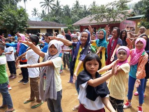 Children dance and play during Psychosocial Support Sessions facilitated by the CFSI PSEP Team.