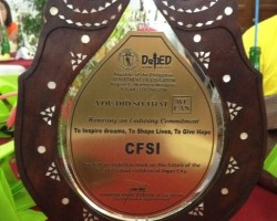 CFSI named DepEd 2013 Outstanding Stakeholder