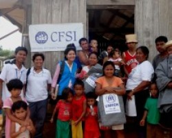 Assisting typhoon recovery in isolated mountain community
