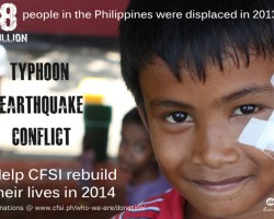 Please help CFSI rebuild lives in the Philippines!